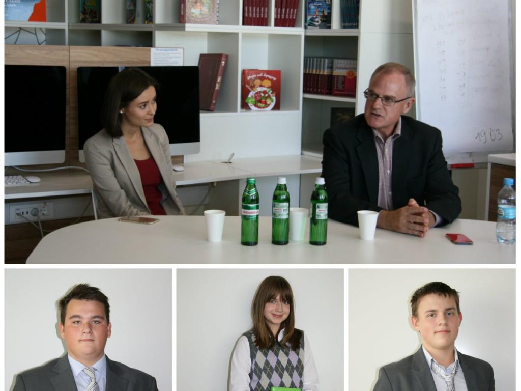 Встреча с Бартоном Ли в Новопечерской школе - фото
